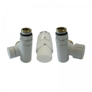 Thermostatic set for installation of an electric heater - white