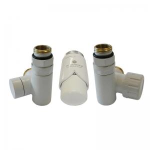 Zestaw termostatyczny do montażu grzałki elektrycznej - biały