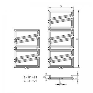 Grzejnik Presto - rysunek techniczny